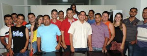 Os candidatos petistas Zé Inácio e Ney Jerfesson em companhia dos técnicos agrícolas da região dos Cocais.