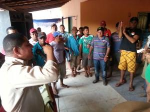 Zé Inácio expõe suas propostas para comunidade em Marajá do Sena.
