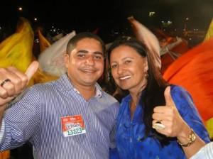 Zé Inácio (PT)  recebe o apoio da prefeita de Itinga, Vete Botelho.