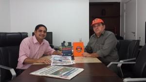 O Deputado Zé Inácio e o presidente da Força Sindical Frazão.