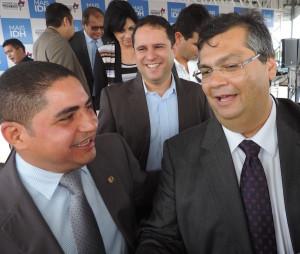 Zé Inácio e o governador Flávio Dino.
