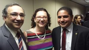 Deputado Zé Inácio acompanhando da presidente do Incra Lúcia Falcón e do secretário de Desenvolvimento Territorial do MDA Humberto Oliveira.