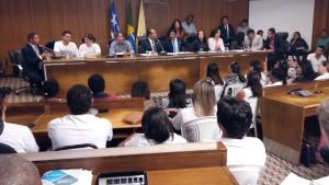 O deputado Zé Inácio participou da Audiência Pública da Comissão de Educação.