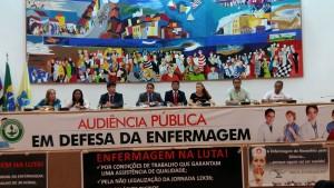 Zé Inácio preside audiência em defesa da enfermagem.