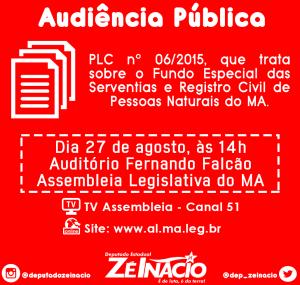 Deputado Zé Inácio (PT) é autor do  Projeto de Lei Complementar nº 006/2015.